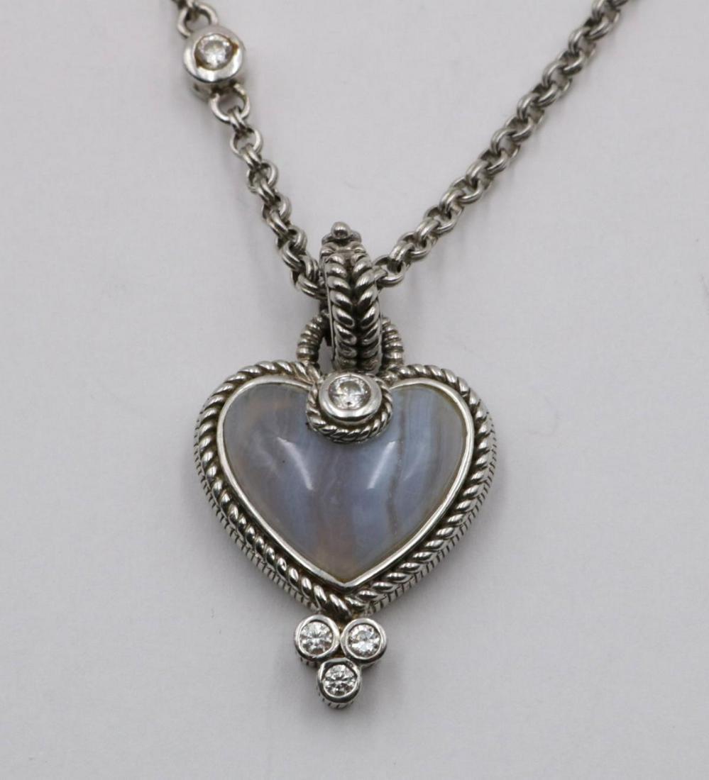 Judith Ripka Sterling & Quartz Heart Necklace
