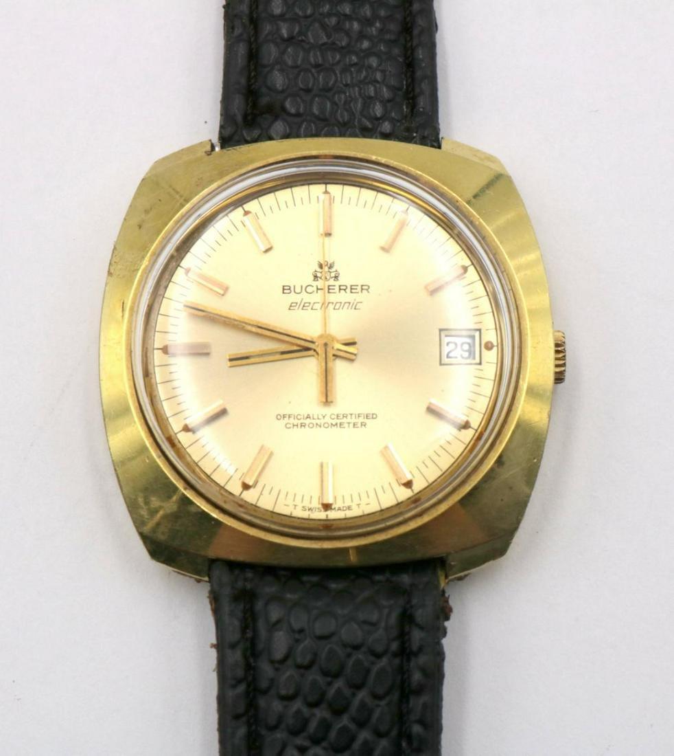 Bucherer Gold Filled Electronic Pocket Watch