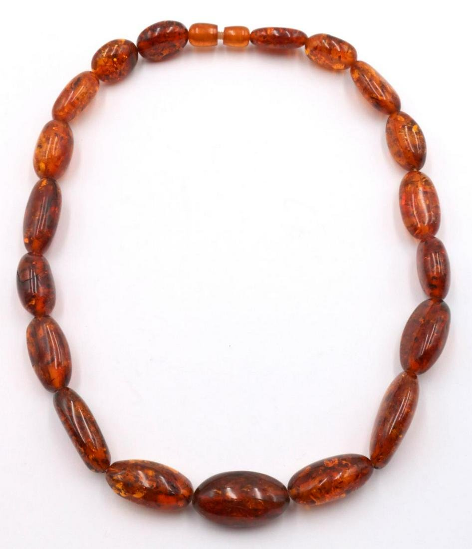Natural Amber Beaded Necklace