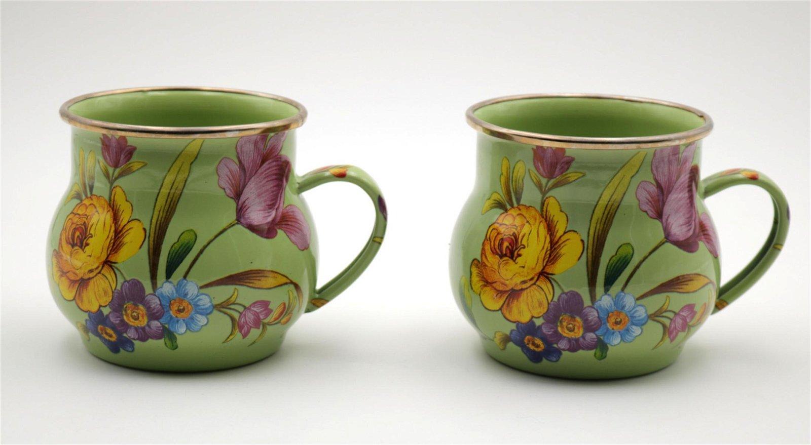 Mackenzie Childs Floral Mugs