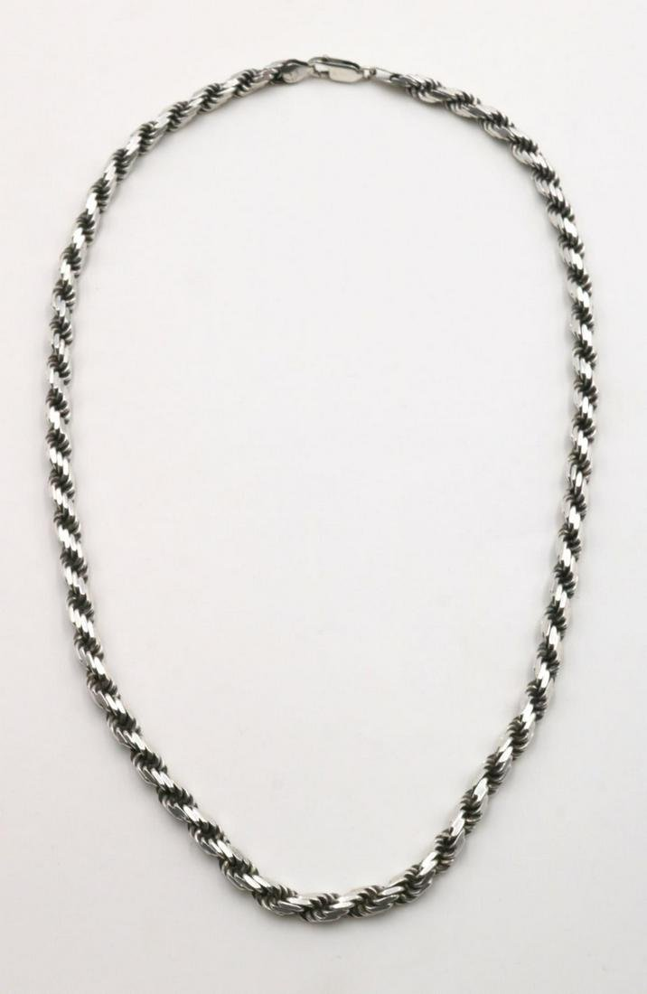 Paolo Romeo Sterling Silver Rope Chain