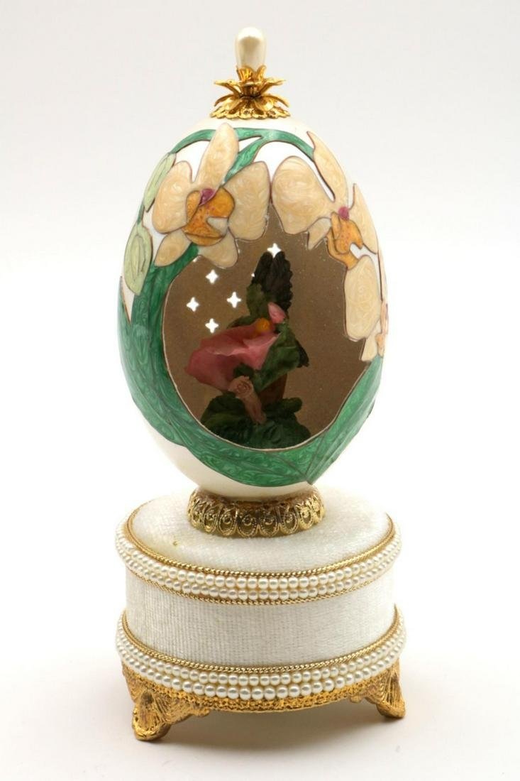 Kingspoint Faberge Style Egg Music Box