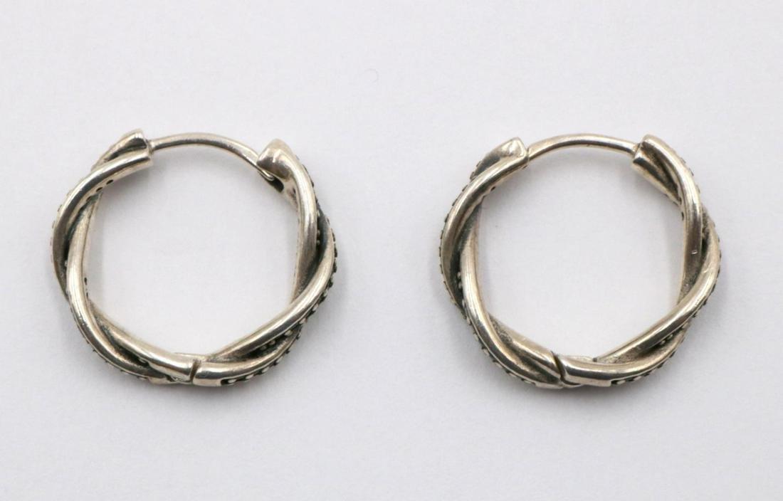 Pandora Sterling Silver Hoop Earrings