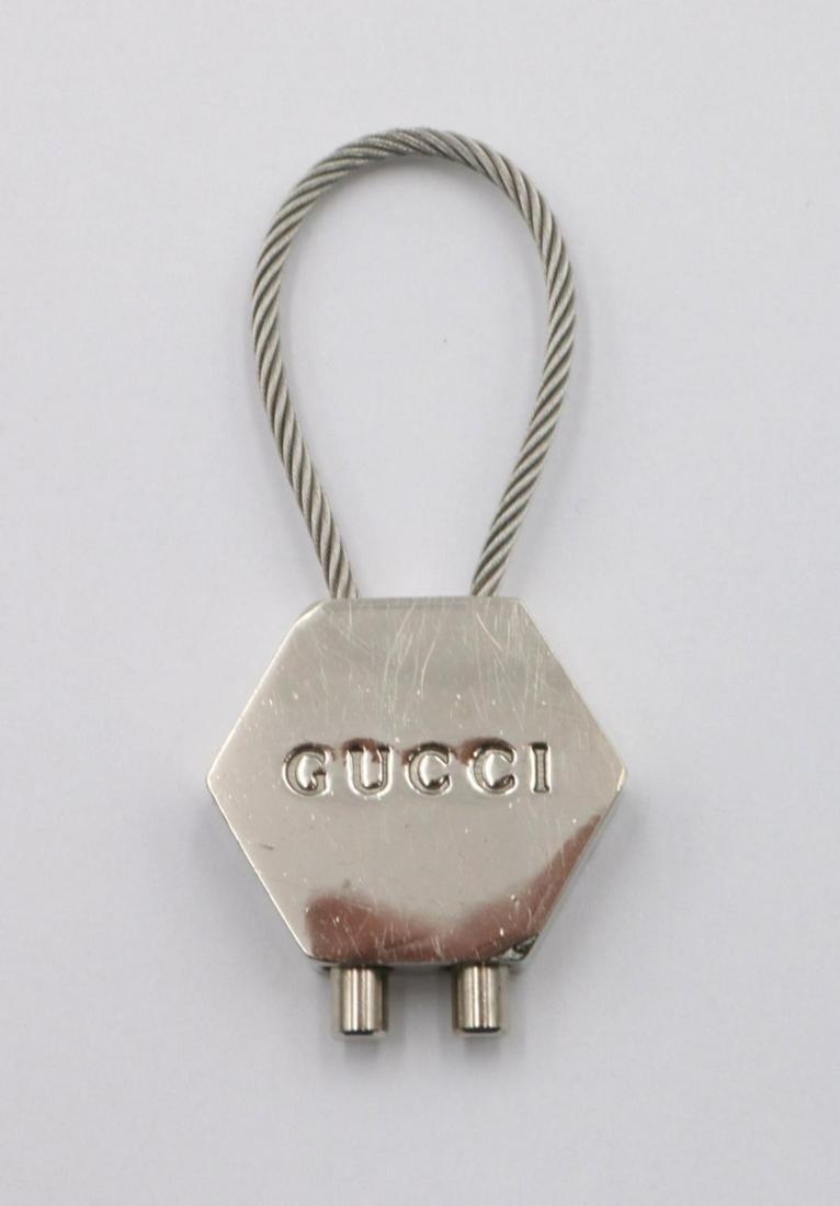 Gucci Silver Tone Key Chain