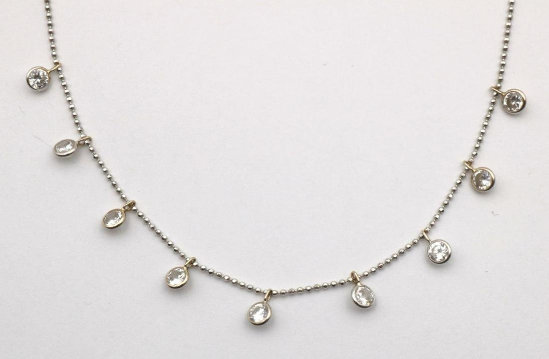 RCI 14Kt White Gold & Diamond Necklace