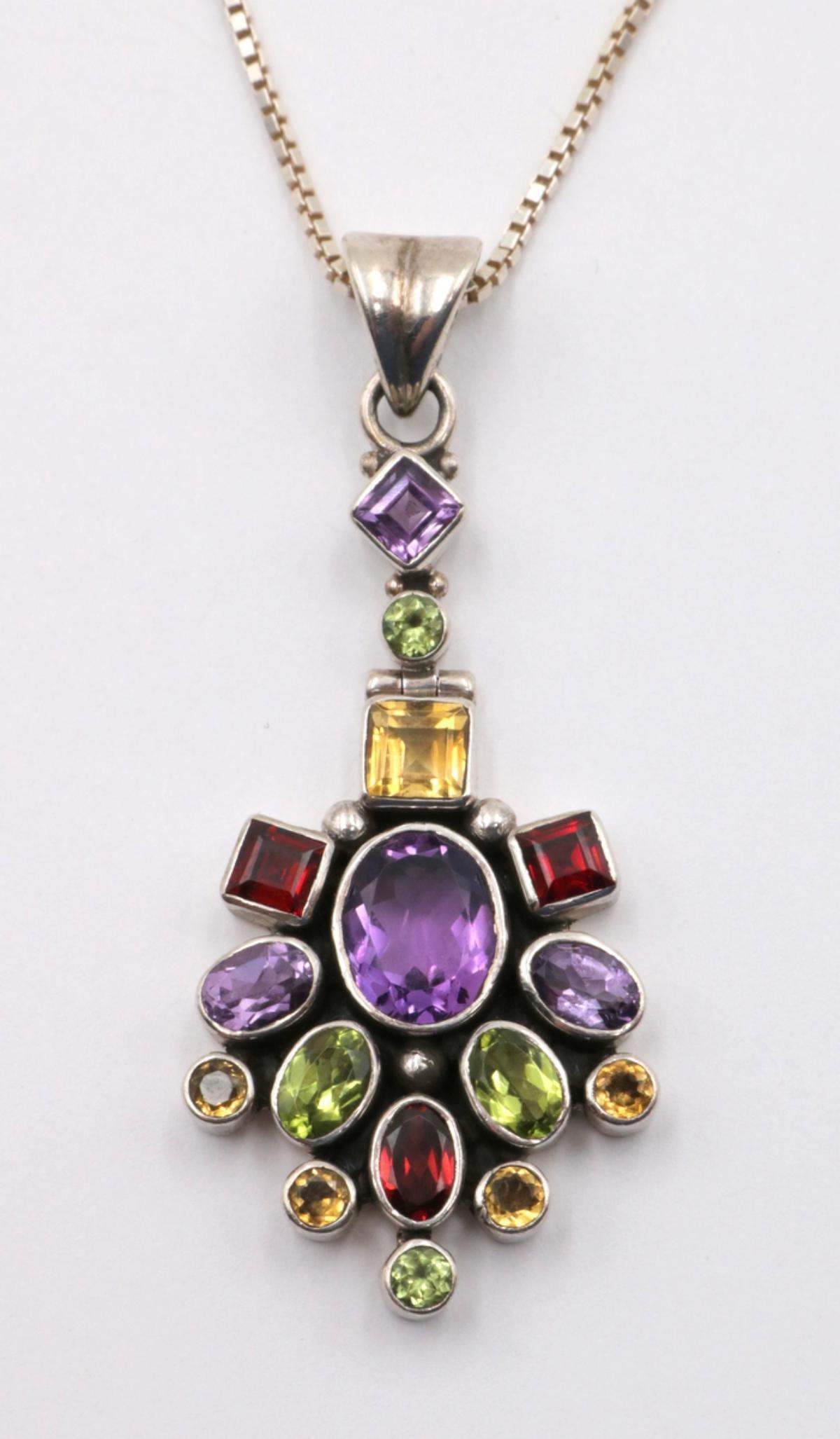 Nicky Butler Sterling & Stone Pendant w/ Necklace