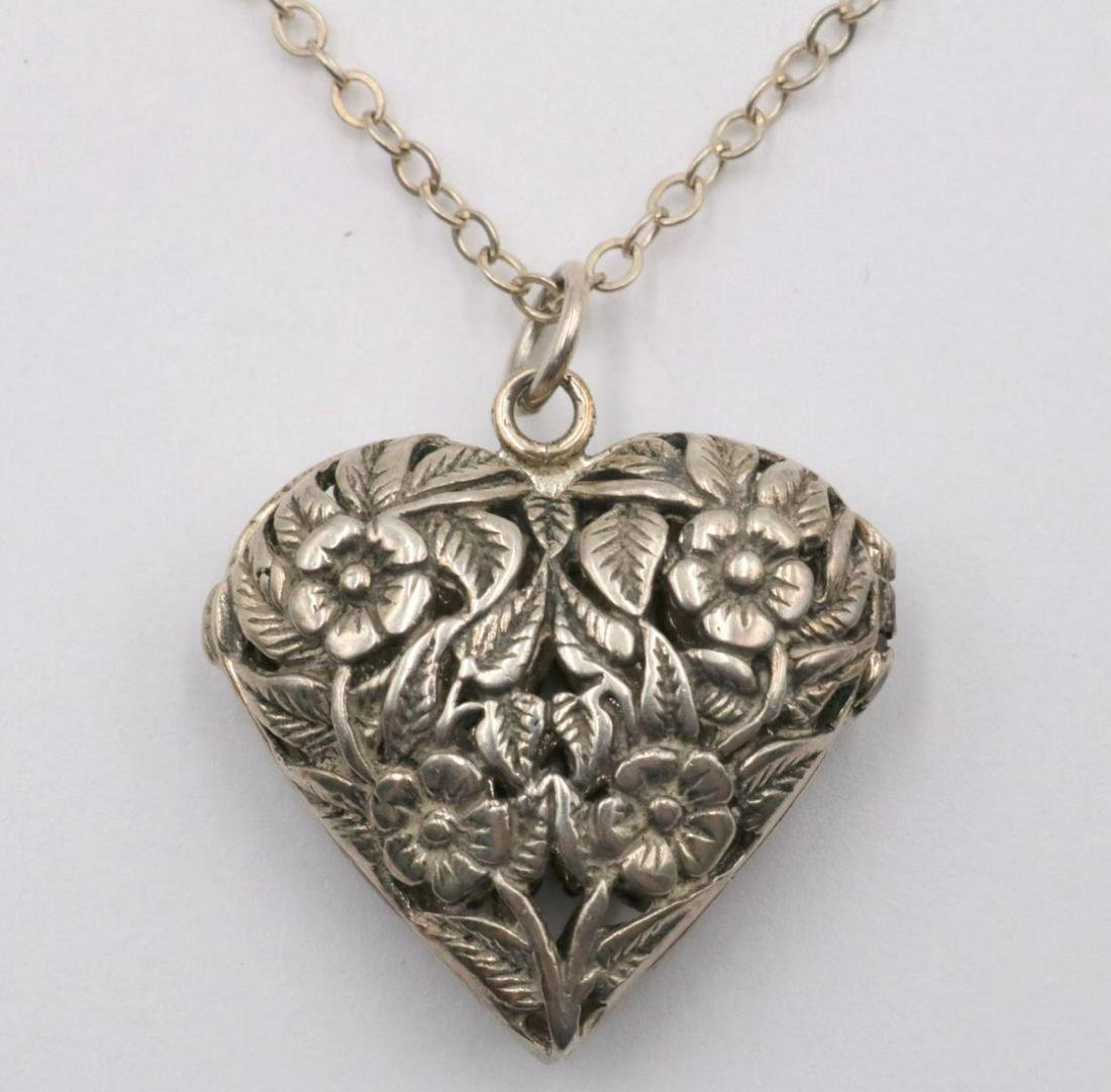 Sterling Heart Pendant w/ Necklace