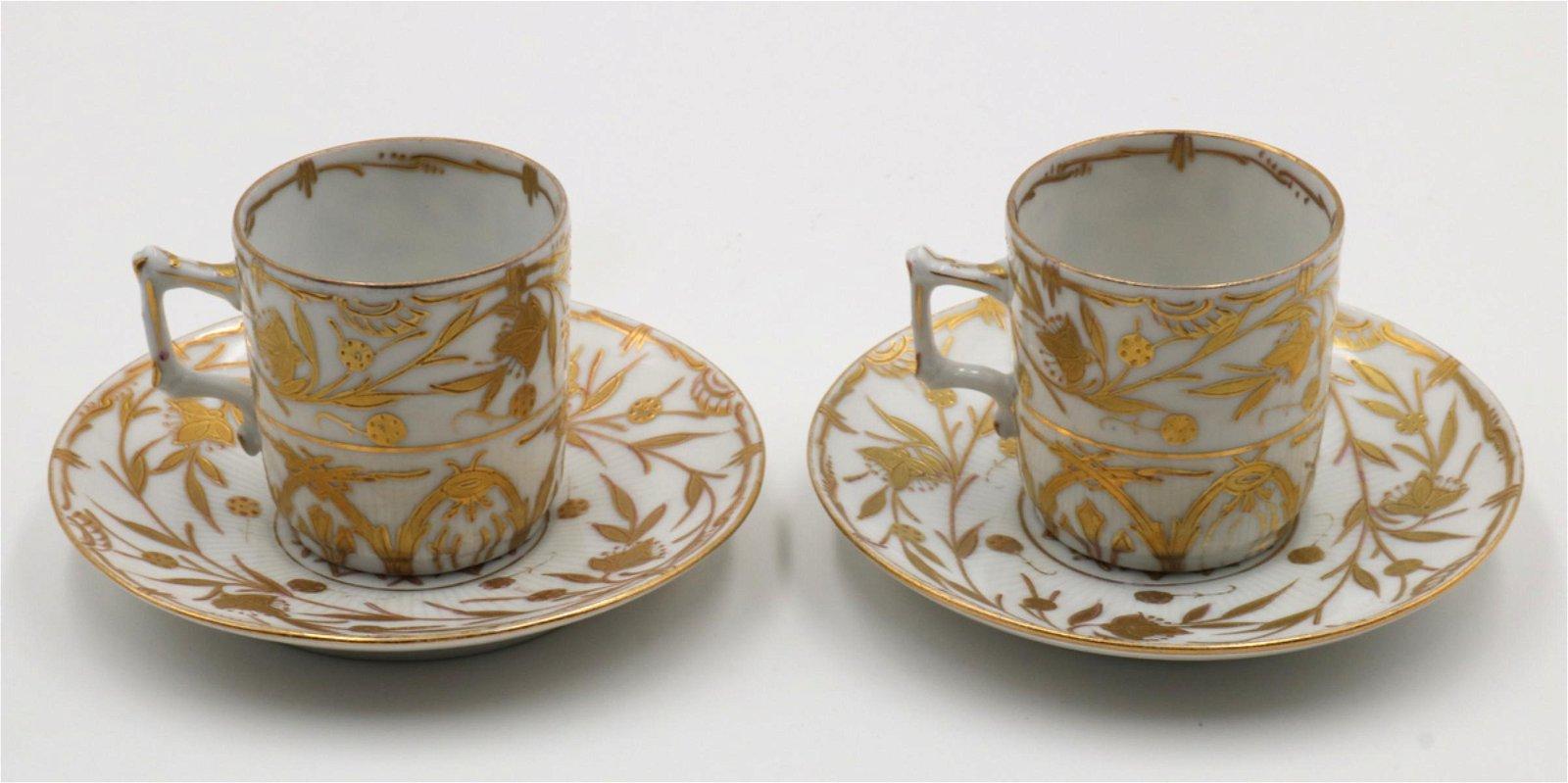 Ovington Bros. Austria Porcelain Cup & Saucers