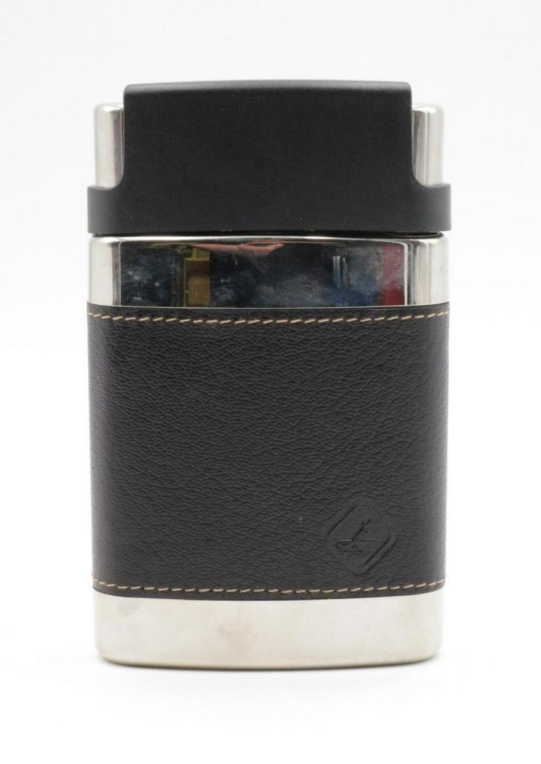 Busse Design Chrome & Leather Flask