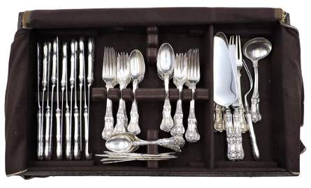 "79 Pc. Tiffany & Co. ""English King"" Sterling Flatware"