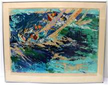 LeRoy Neiman High Seas Sailing Silkscreen