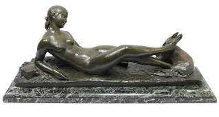 "Ary Bitter (French 1883-1973) ""Chloe"" Bronze Sculpture"