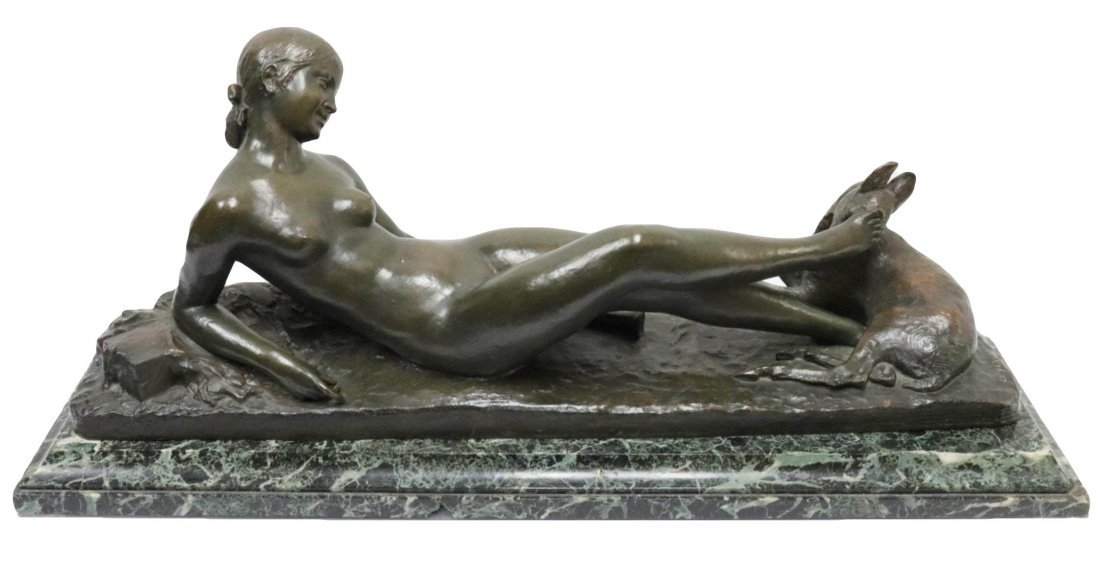 """Ary Bitter (French 1883-1973) """"Chloe"""" Bronze Sculpture"""