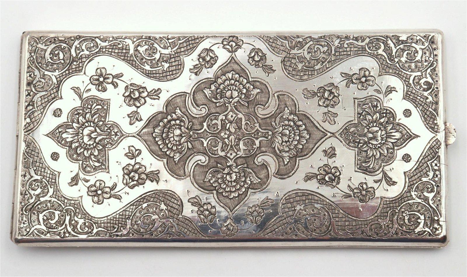 Beautiful 800 Silver Cigarette Case