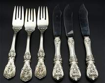 6 Pc Reed  Barton Francis I Sterling Fish Set