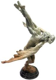 "Richard MacDonald ""Doves"" Half Life Bronze Sculpture"