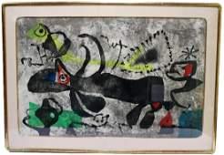Joan Miro Els Gossos IV Etching in Colors