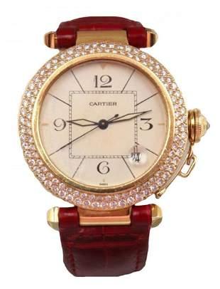"Cartier ""Pasha"" 18Kt & Diamond Ladies Watch"