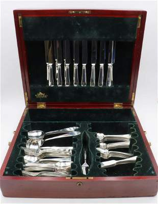 "84 Tiffany & Co. ""Faneuil"" Sterling Flatware Set"