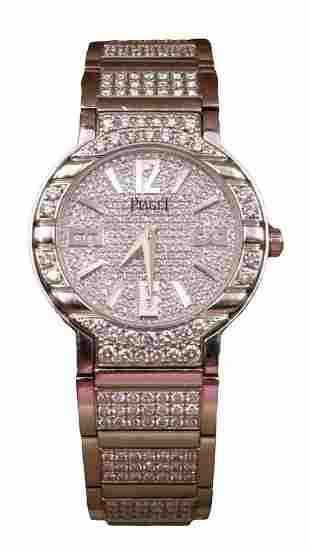 "Rare Piaget ""Polo"" 18Kt & Diamond Watch"