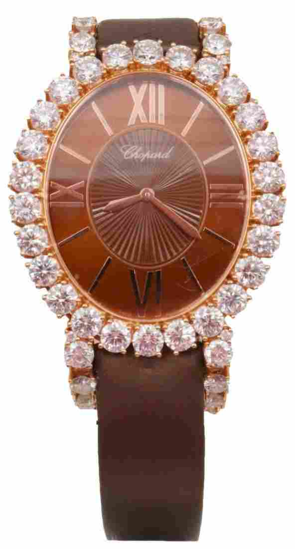 "Chopard ""L'Heure Du Diamant"" Oval Diamond Watch"