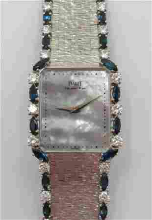 Piaget Platinum Sapphire & Diamond Watch