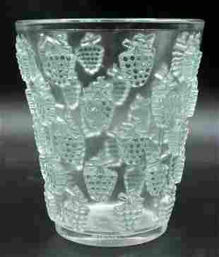 "Rene Lalique ""Malaga"" Crystal Vase"
