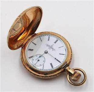 Antique Elgin 14Kt Yellow Gold Pocket Watch