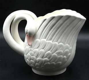 "Fitz & Floyd ""Double Headed Swan"" Pitcher"