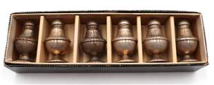 6 Pc. Sterling Silver Salt & Pepper Shakers