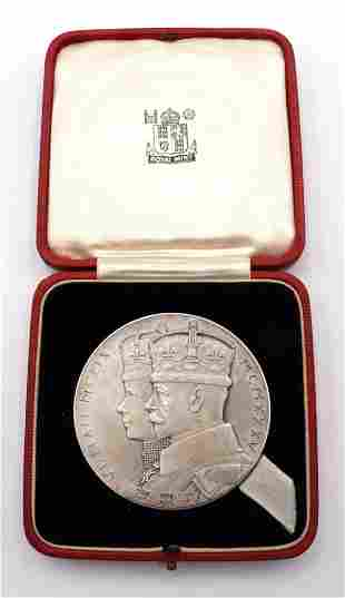 George V & Mary Official Silver Jubilee Medal