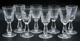 8 Pc. Waterford Crystal Cordial Glasses