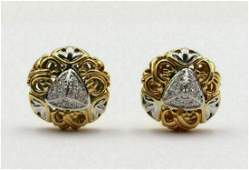 John Hardy 18Kt Yellow Gold Diamond Earrings