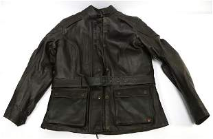 Triumph Brown Leather Motorcycle Jacket