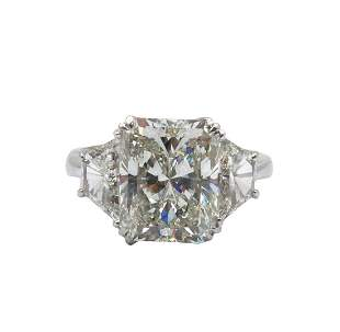 Platinum & 5.02ct. Center Diamond Engagement Ring