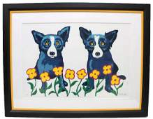 "George Rodrigue ""A Chorus Line of Flowers"" Silkscreen"