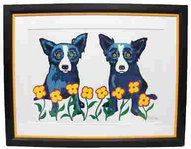"George Rodrigue ""A Chorus Line of Flowers"" Silkscreen"