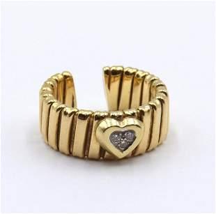 18Kt Yellow Gold & Diamond Heart Ring