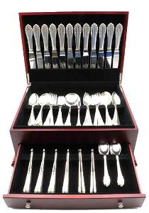 """86 Georg Jensen """"Lily of the Valley"""" Sterling Flatware"""