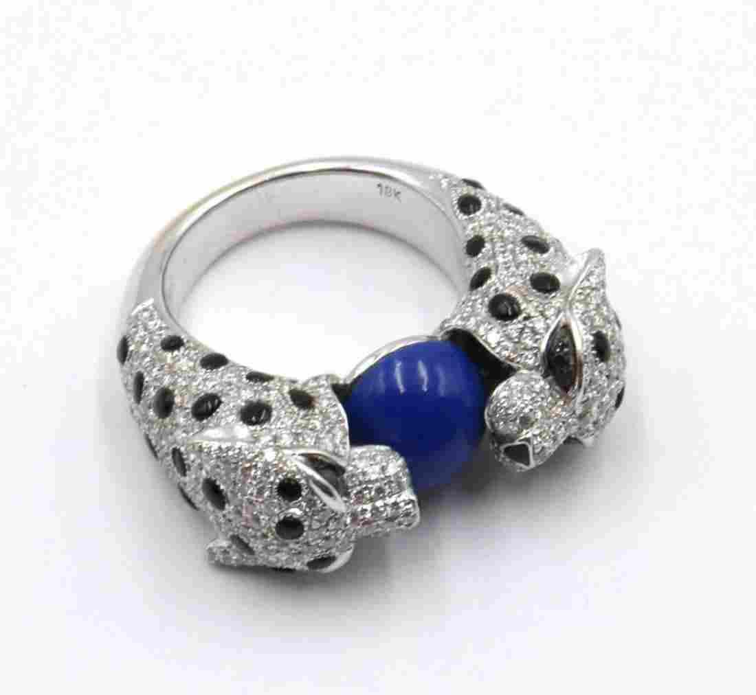 18Kt 3.09ct. Diamond Panther Ring