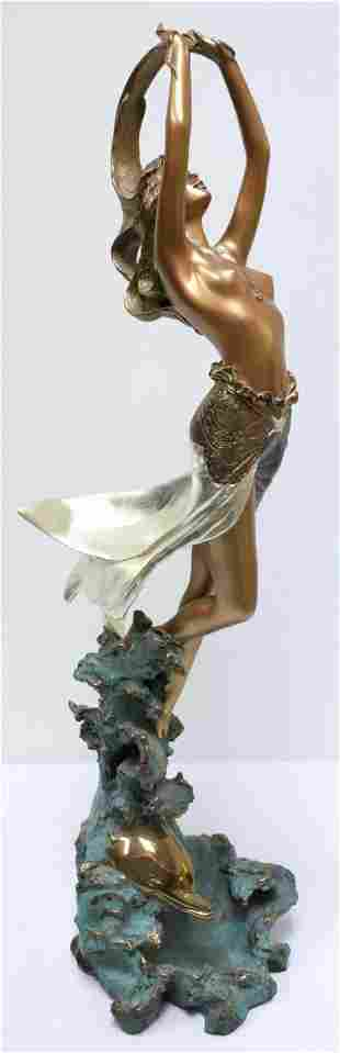 "Angelo Basso ""Ilaria"" Bronze Sculpture"