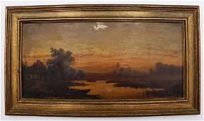 Follower of Frederic Edwin Church Oil on Board