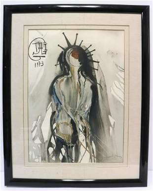 "Salvador Dali ""New York Christ"" Lithograph"
