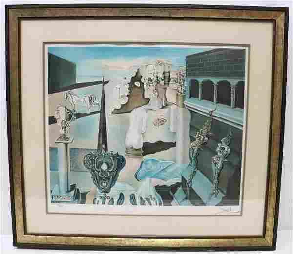 """Salvador Dali """"Invisible Man"""" Lithograph"""