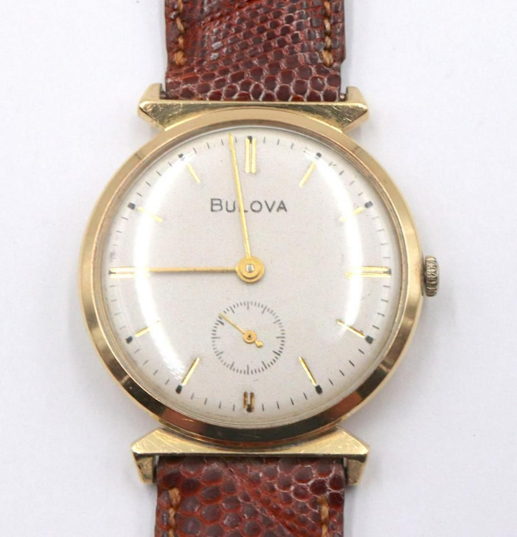 Bulova 14Kt 1962 Leather Watch