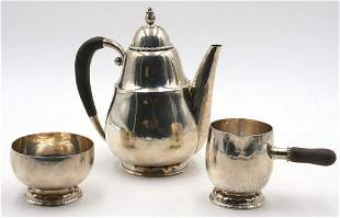Early Georg Jensen Sterling Silver Coffee Set