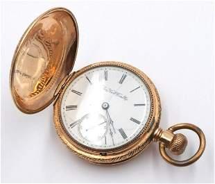 Antique Elgin 10Kt Hunting Case Pocket Watch