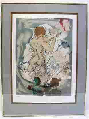 "Salvador Dali ""Fisherman II"" Lithograph"