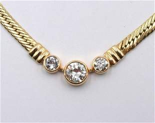 14Kt & 1.38ct. Diamond Necklace