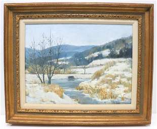 "Thomas Bouck ""Bohringer's Farm"" Oil Painting on Canvas"